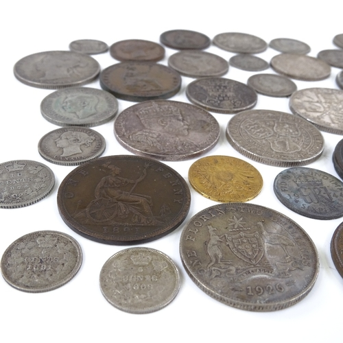 49 - A group of British and Continental silver and copper coins...