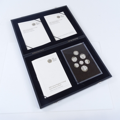 55 - Royal Mint 2008 United Kingdom Coinage Silver Proof collection, cased...