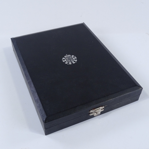 56 - Royal Mint 2008 United Kingdom Coinage Silver Piedfort collection, cased...
