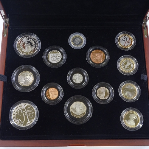 58 - The 2017 United Kingdom Premium Proof Coin set, cased...