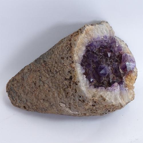 4 - A large amethyst geode shard tip, length 30cm...