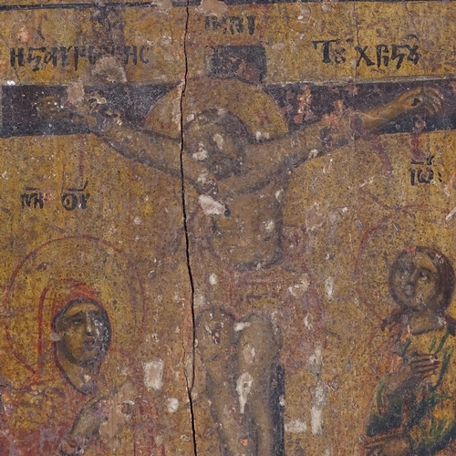 163 - 2 Russian painted and gilded icons on wood panels, height 23cm and 19cm (2)...