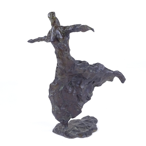 19 - James Benenson, patinated bronze sculpture, Liberte, signed and numbered artist's proof 3/4, height ...