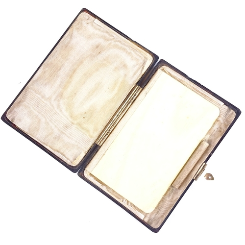 204 - A 19th century French tortoiseshell purse/note case, with ivory note page, 10cm x 7c,...