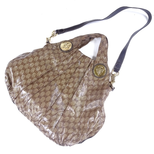 230 - GUCCI - Hobo Histeria bag, cloth with leather interior, and dust bag...