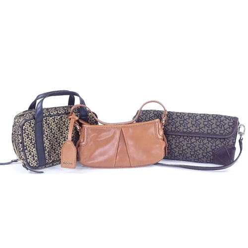 231 - DKNY - 2 evening bags, and 1 make-up case (3)...