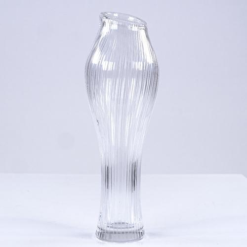 239 - Tapio Wirkkala for Iittala Finland, Foal's Foot vase, line cut glass, 1958, signed, height 16cm...