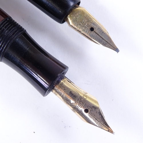 266 - 2 Vintage Mont Blanc fountain pens with gold nibs...