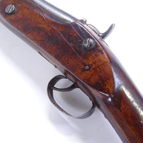 335 - Antique percussion muzzle loading rifle...