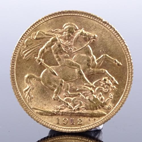 373 - A 1912 gold sovereign...