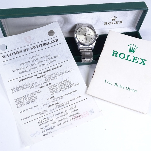 427 - ROLEX - a stainless steel Oyster Precision mechanical wristwatch, ref. 6426, circa 1971, silvered di...