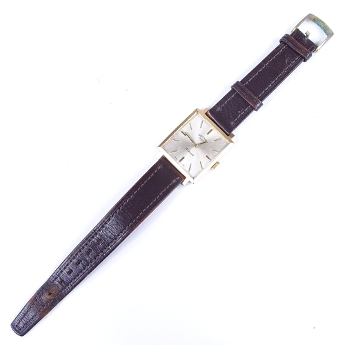 429 - ROTARY - a Vintage 9ct gold mechanical wristwatch, ref. 7539, silvered dial with gilt baton hour mar...