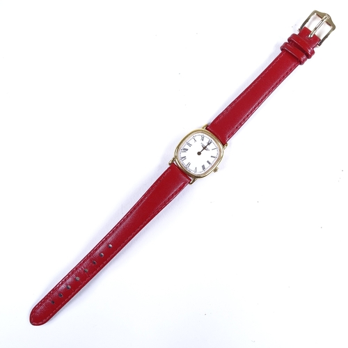 431 - LONGINES - a lady's gold plated stainless steel Les Grandes Classiques quartz wristwatch, ref. 7423,...