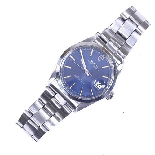 441 - TUDOR - a stainless steel Prince Oysterdate automatic wristwatch, ref. 9050/0, circa 1969, blue dial...