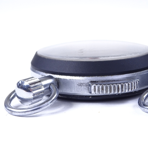 457 - HEUER - 2 Vintage steel-cased stopwatches, case widths 53mm, both working...