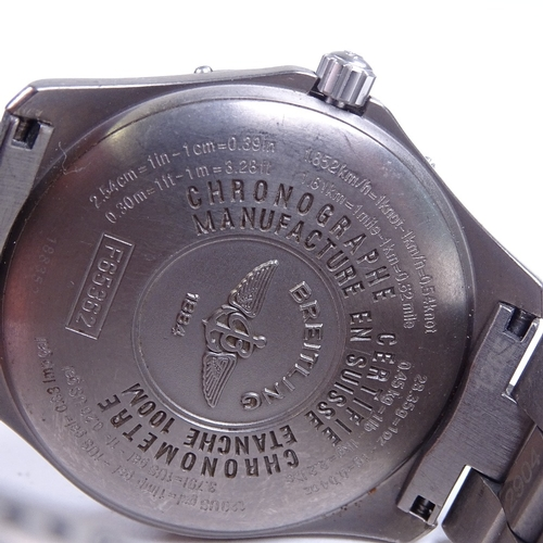 473 - BREITLING - a titanium Aerospace Repetition Minutes quartz pilot's wristwatch, ref. F65362, grey dia...
