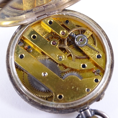 484 - 3 pocket watches, including a Grosvenor gold filled example and a Swiss silver fob watch, (3)...