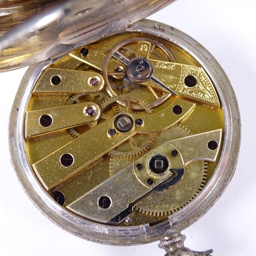 488 - Various watches, including Swiss silver-cased fob watch, gold plated full-hunter pocket watch etc (4...