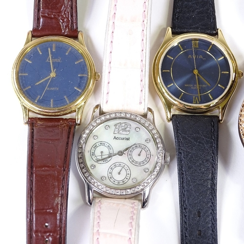 489 - Various wristwatches, including Fossil, Tissot and Accurist (11)...