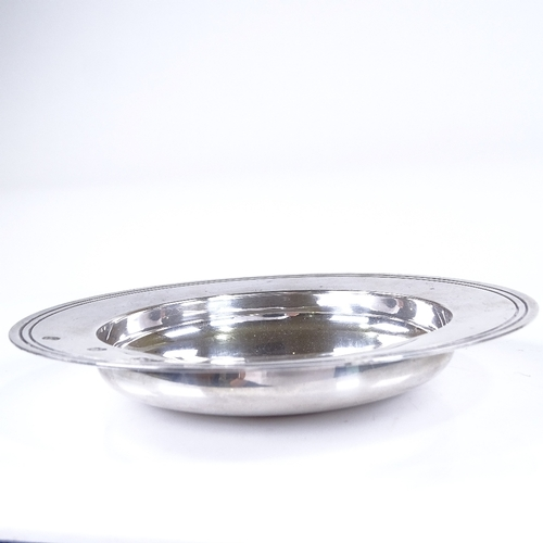 575 - An Elizabeth II circular silver pin dish, by Mappin & Webb Ltd, hallmarks London 1980, diameter 15cm...