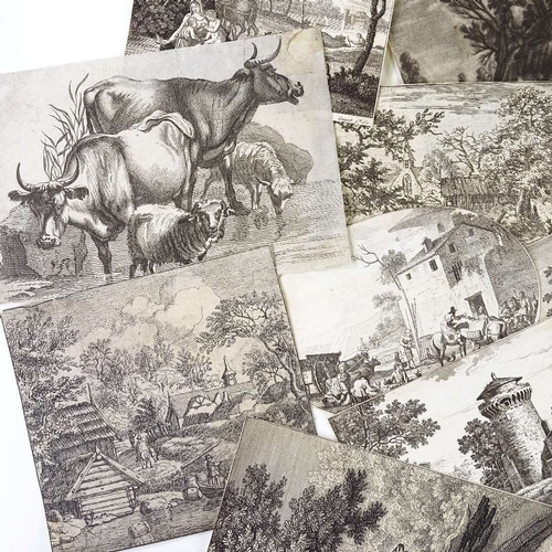 1178 - A collection of 20 18th century prints, including J A Boland after Bartsch...