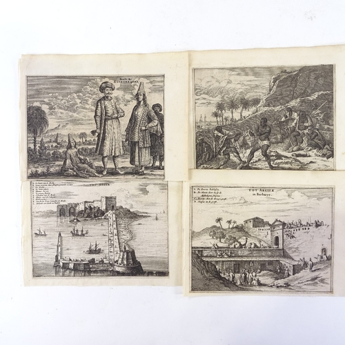 1184 - Olfert Dapper (1639 - 1689), group of 17th century engravings, mostly Africa...