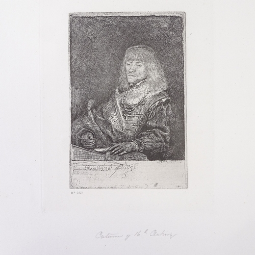 1186 - After Rembrandt, group of 19th century prints...