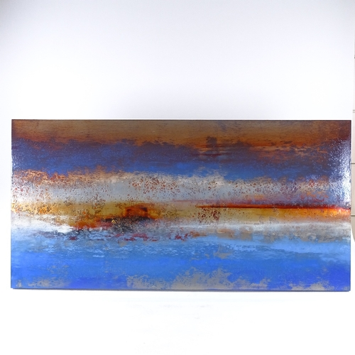 1204 - Mark Maxwell, oil on aluminium, Sparta I signed and dated 2007 verso, 19.5