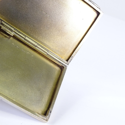 665 - A small early 20th century Continental rectangular silver and enamel cigarette case, hand painted fl...