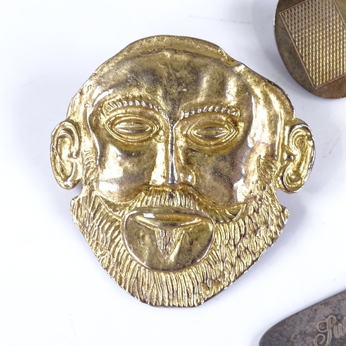 682 - Various silver jewellery, including cufflinks, tie clip, pendant etc...