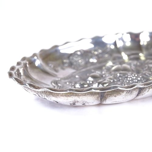 838 - Various silver, including pin dish, mother-of-pearl handled fruit knife, needle case etc...