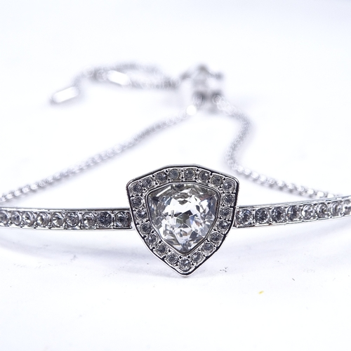 864 - Various jewellery, including Swarovski bracelet, mother of pearl fruit knife, fob watch, amber bangl...