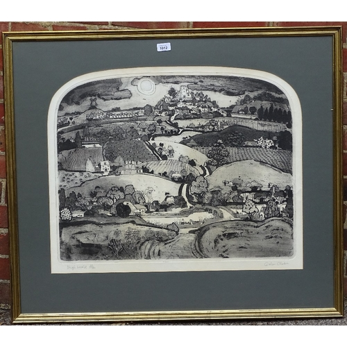 1012 - Graham Clarke, etching, High Weald, signed in pencil, no. 22/100, plate size 21