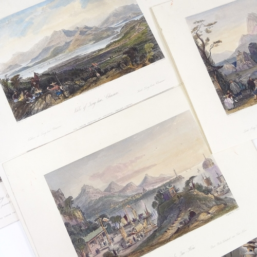 1052 - A collection of 35 hand coloured steel engravings after Thomas Allom, relating to China...