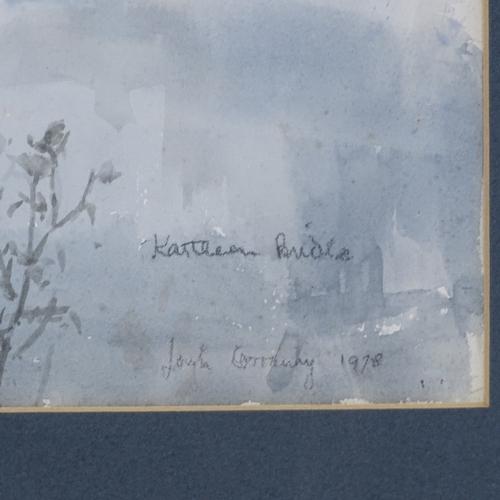 1059 - Kathleen Bride (Irish), watercolour, lake scene, signed and dated 1978, 11.5