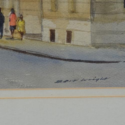 1062 - Bert Wright FRSA, large watercolour, view of Fleet Street, circa 1980s, image 29