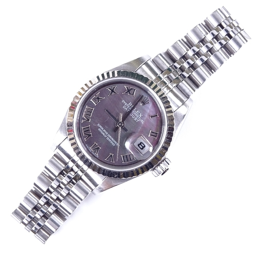 479 - ROLEX - a lady's stainless steel Oyster Perpetual Datejust automatic wristwatch, ref. 79174, circa 2...