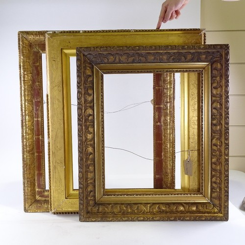 1202 - 3 19th century gilt picture frames...