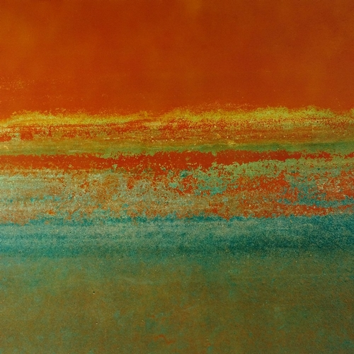 1210 - Peter Lake, pair of colour prints, Orange Texture I and II, signed in pencil, artist's proof, image ...