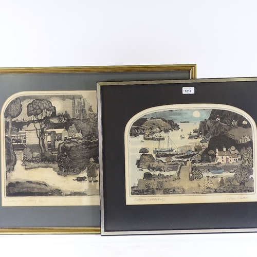 1218 - Graham Clarke, 2 etchings, crabbers (artist's proof), plate 11