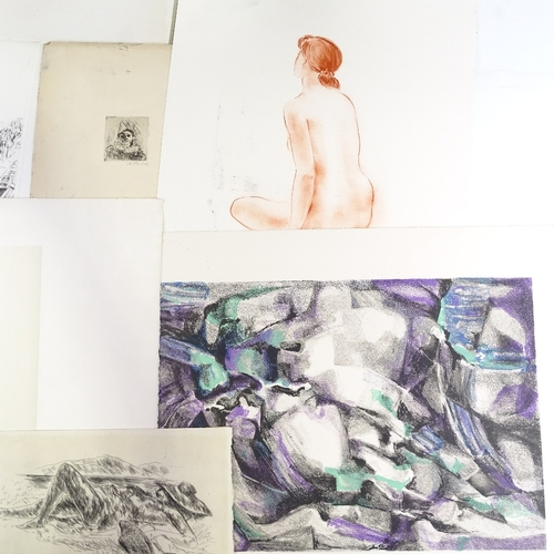 1219 - Folder of prints and engravings...