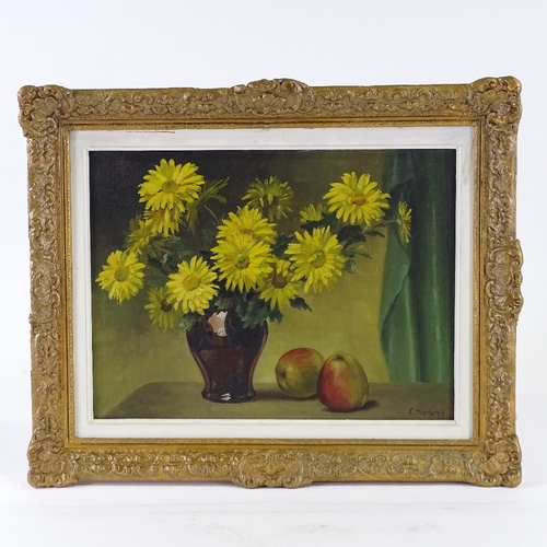 1230 - Clement Sielens, oil on canvas, still life, signed, 12