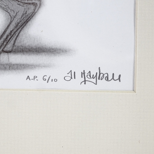 1249 - Al Hayball, giclee print, dancing hares, artist's proof, 6/10, signed in pencil, image 12.5