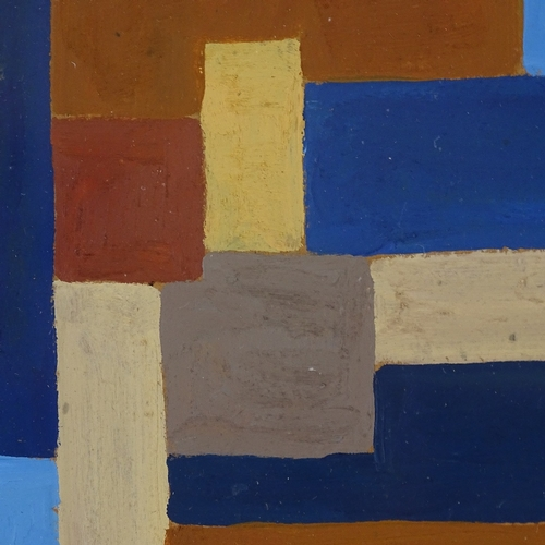 1267 - Oil on board, geometric composition, unsigned, 5