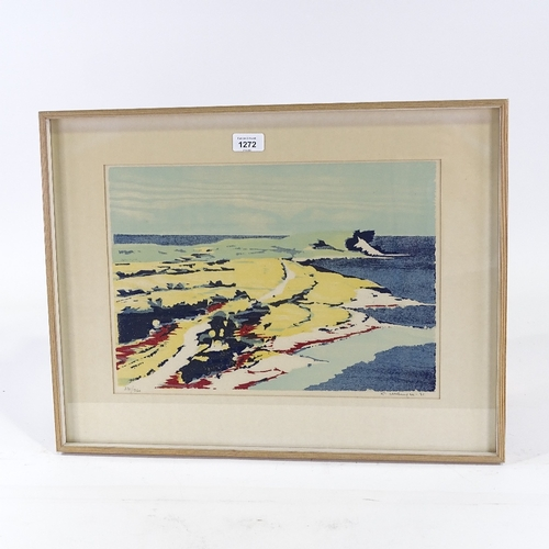 1272 - Kurt Ullberger (1919 - 2008), colour print, seascape, signed in pencil, no. 271/300, image 11
