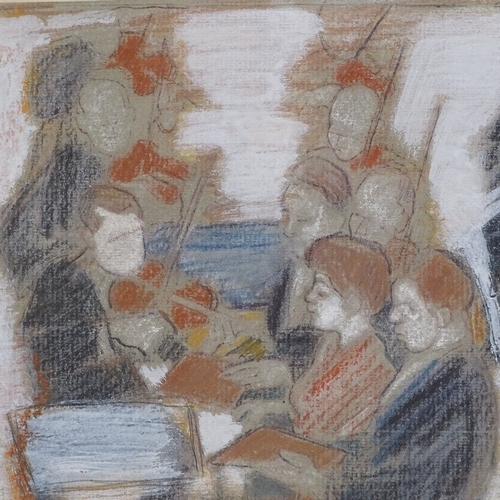 1279 - Lillian Freiman (Canadian 1908 - 1986), coloured pastels, orchestra, signed, 5.5