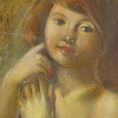 1280 - James Govier (1910 - 1974), oil on board, nude, 11