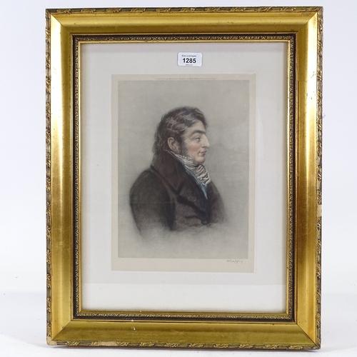 1285 - Charles Turner, print, portrait of J M W Turner, published 1924, image 11.5