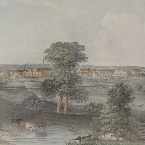 1287 - 19th century colour print, view of Leicester, image 11