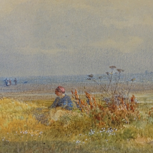 1295 - John Henry Mole, watercolour, Pegwell Bay Isle of Thanet, signed and dated 1867, 5.5